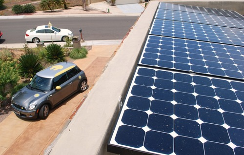 How much can you save with an electric car powered by solar?