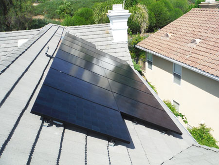 black sunpower panels