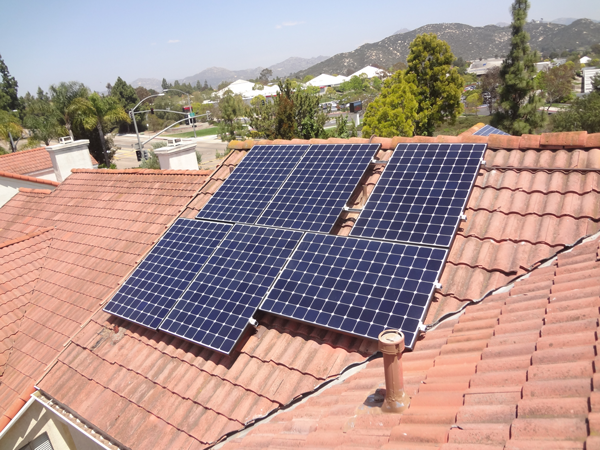 concrete tile solar installation