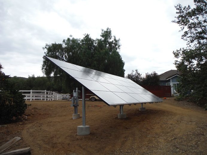 adjustable ground mount solar installation
