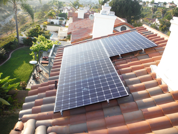 s-tile clay roof solar installation