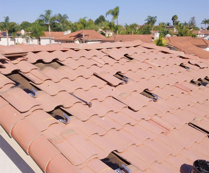 concrete tile roof solar installations san diego