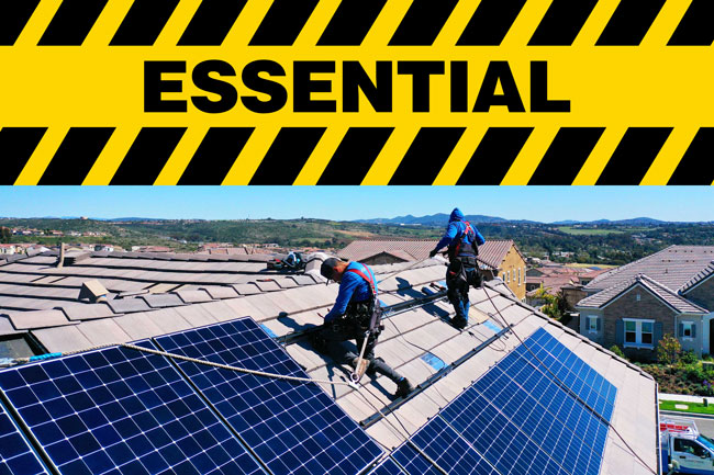 We're Essential: Solar Installation Officially OK'ed by California Energy Commission