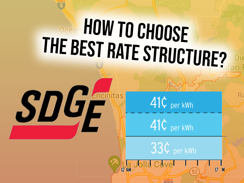 How to Choose the Best SDG&E Rate Structure in 2021