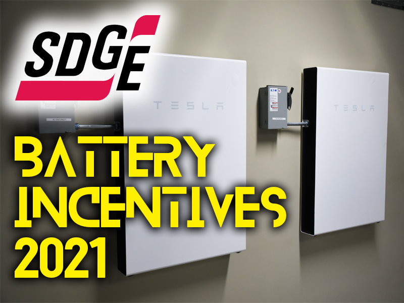 Home Battery Incentives in SDG&E: 2021